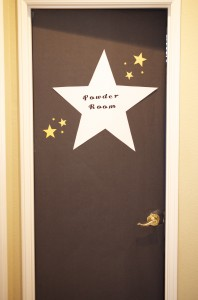 A Star Is Born Hollywood baby Shower Powder room