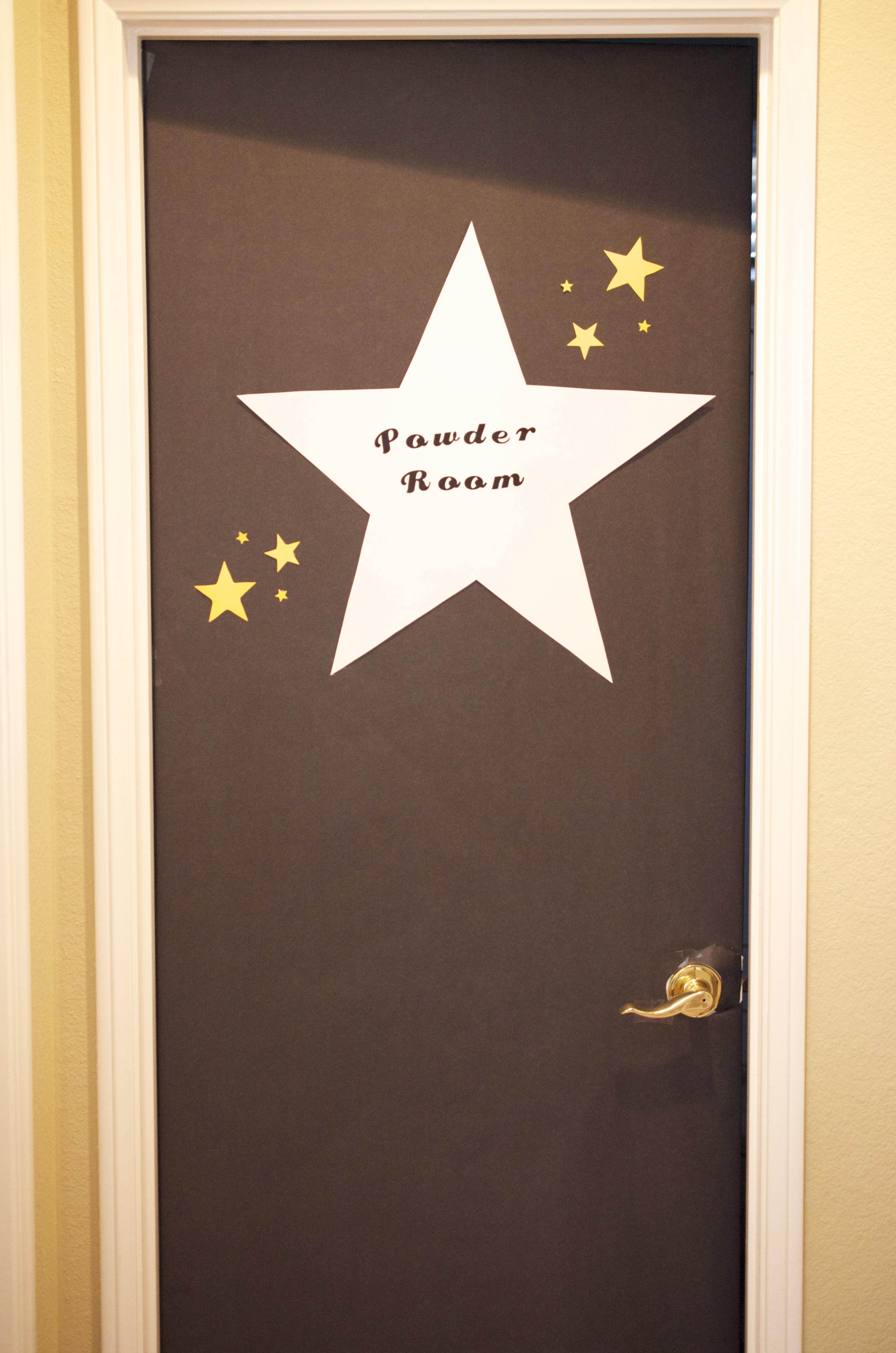 Celebrity dressing room door