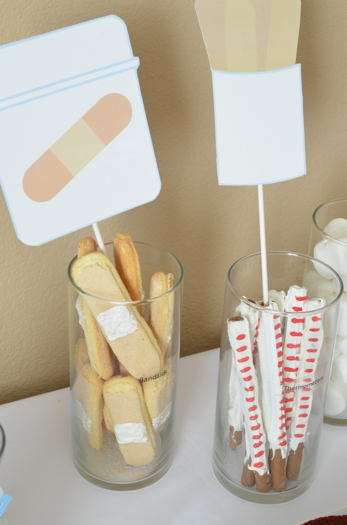 Up close of Band-Aids and Thermometer plus Cut-Outs