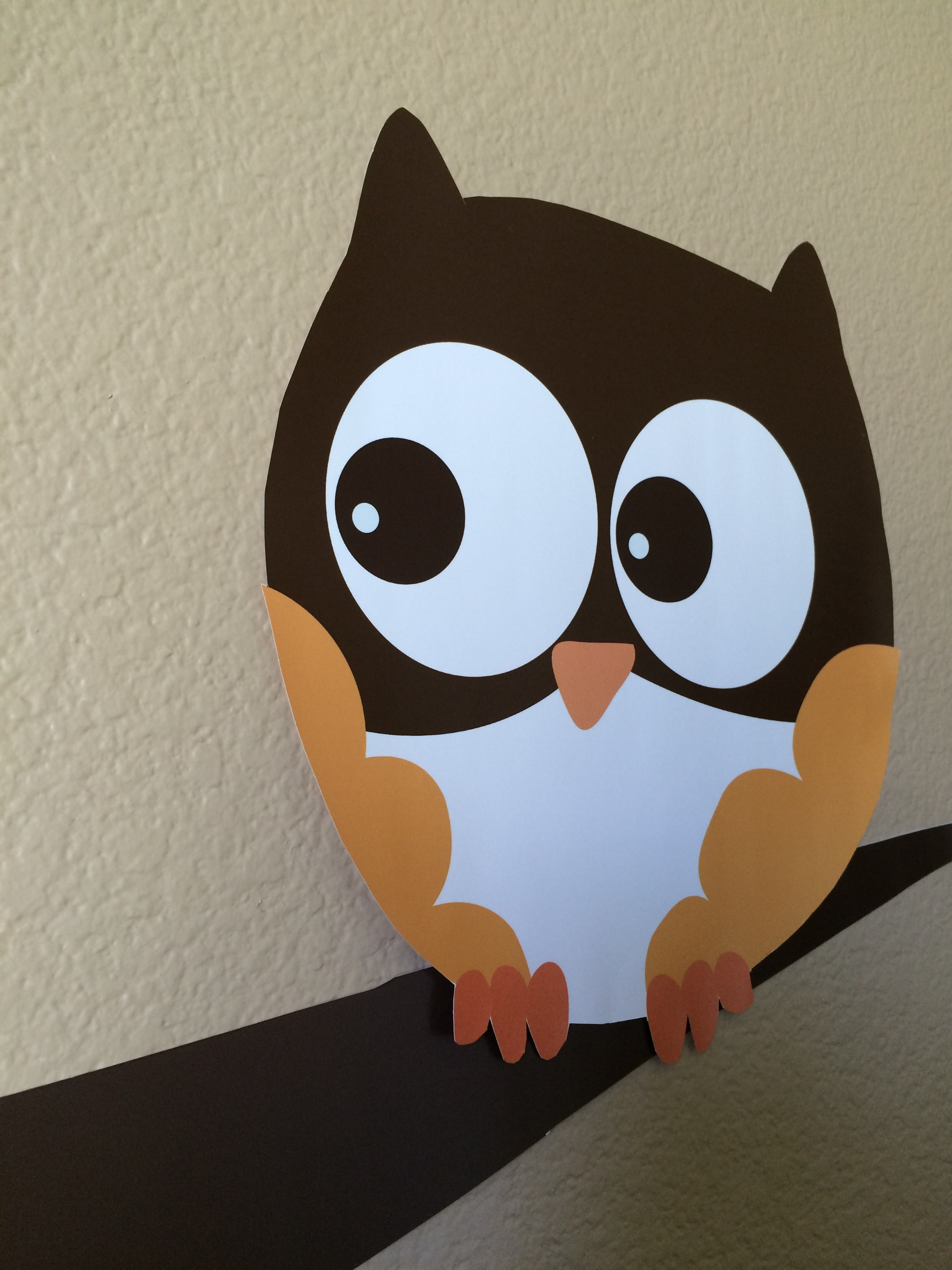 Owl Fall Theme Or Halloween Baby Shower Wall Art