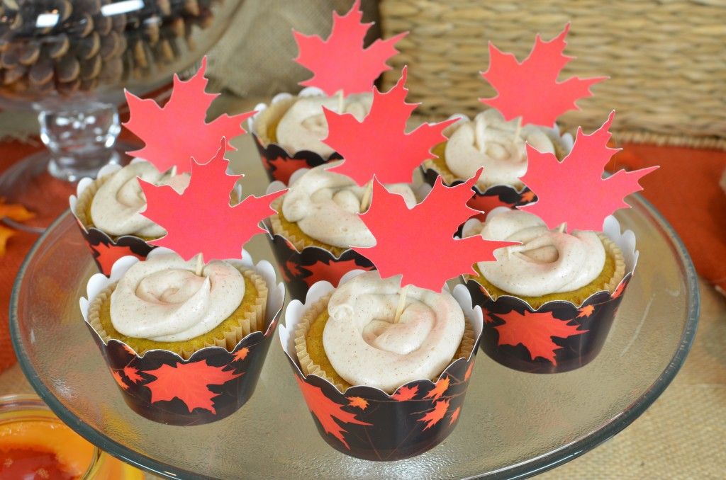 Fall In Love - Cupcake with Maple Toppers