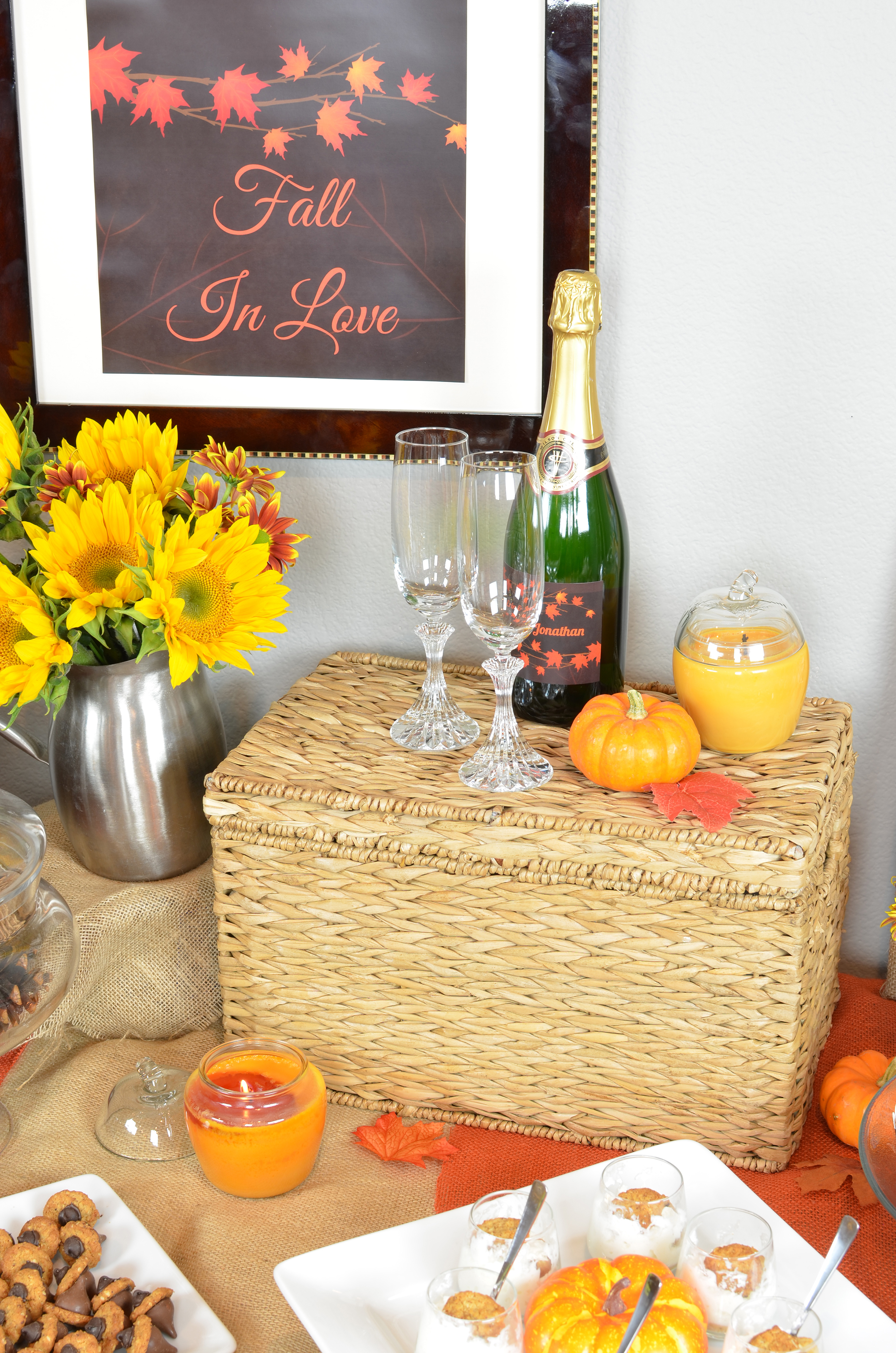 Fall In Love Bridal Shower Theme Candles And Favors