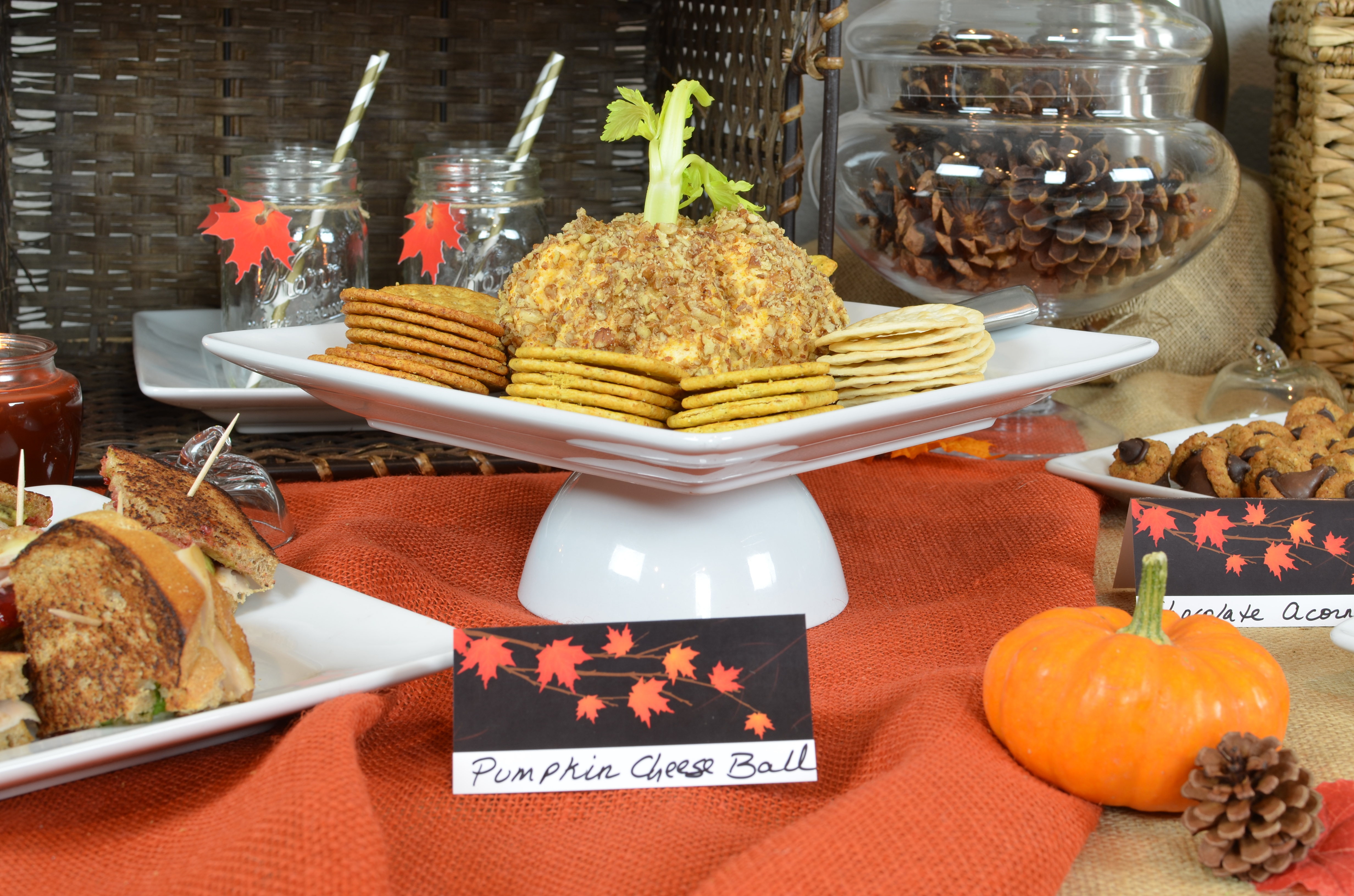 fall in love pumpkin cheese ball