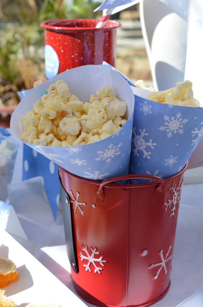 Snowflake Party - Snow Cone Popcorn