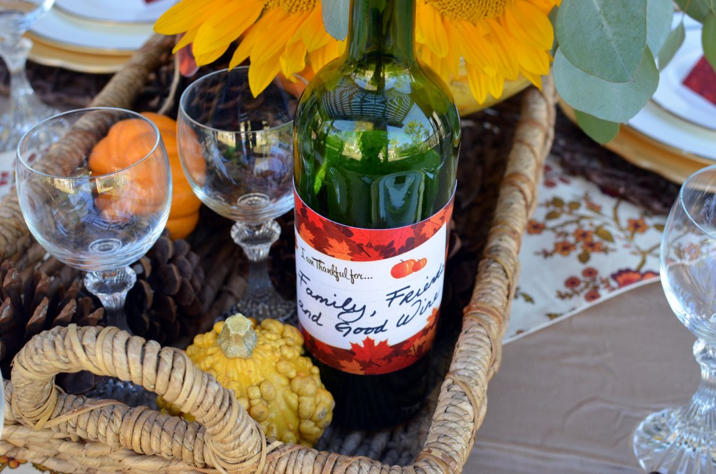 Give Thanks - Wine Bottle Idea
