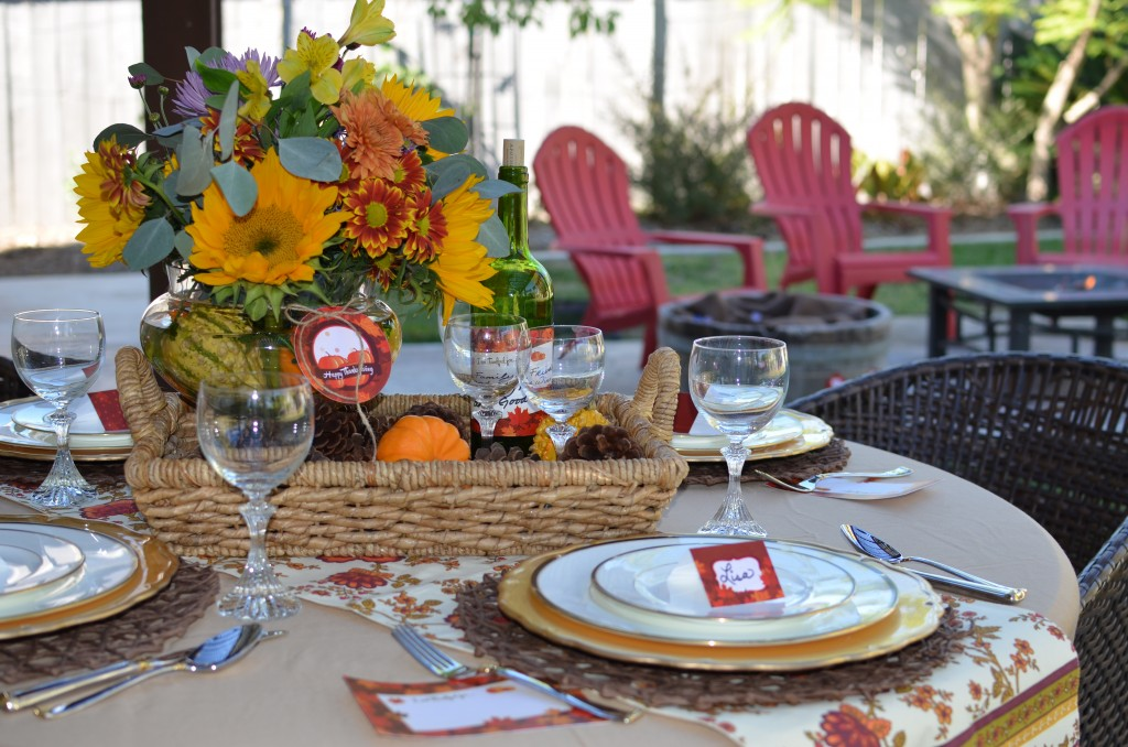 Give Thanks - Table Set Up