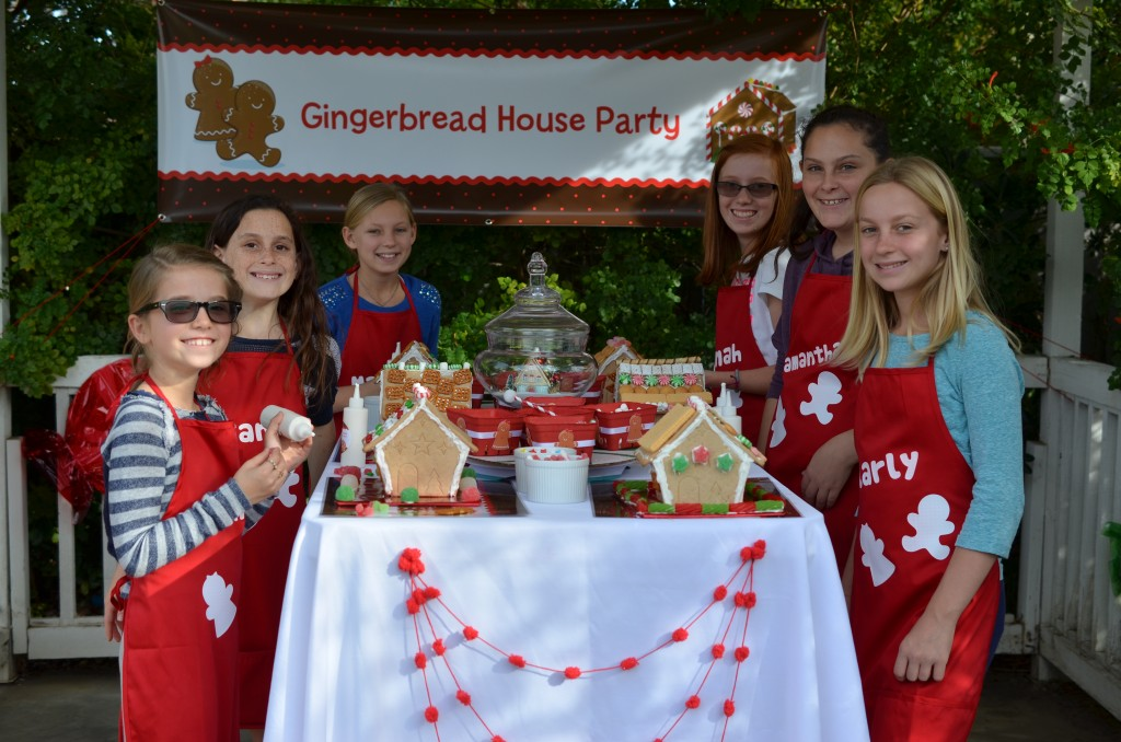 gingerbread party - let the party begin