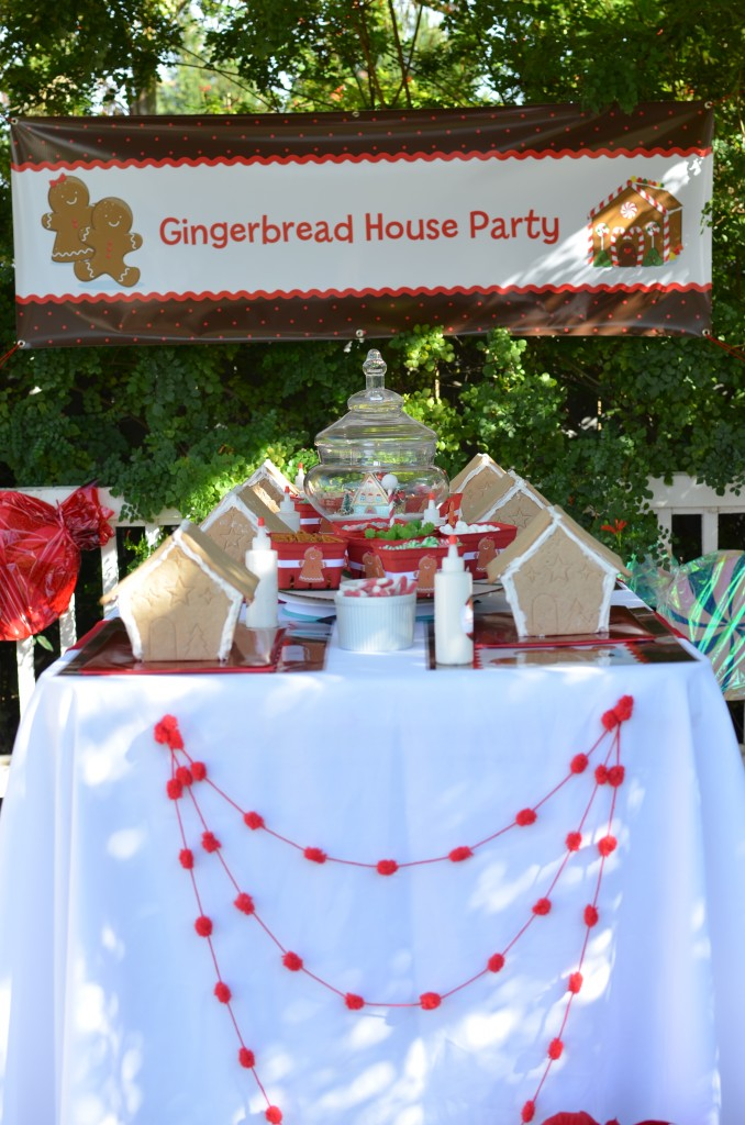 gingerbread party - outdoor banner