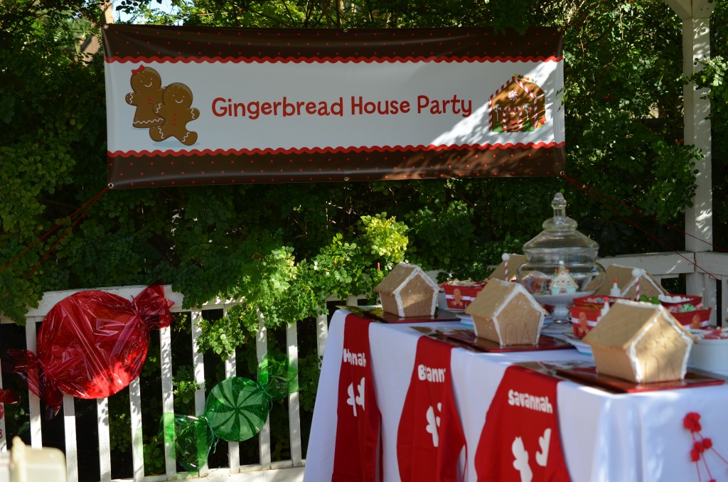 gingerbread party- picture of banner and candy