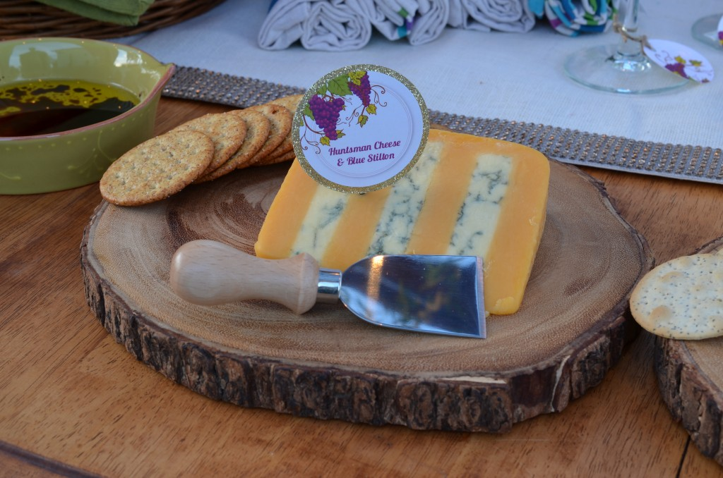 wine and cheese party blue cheese