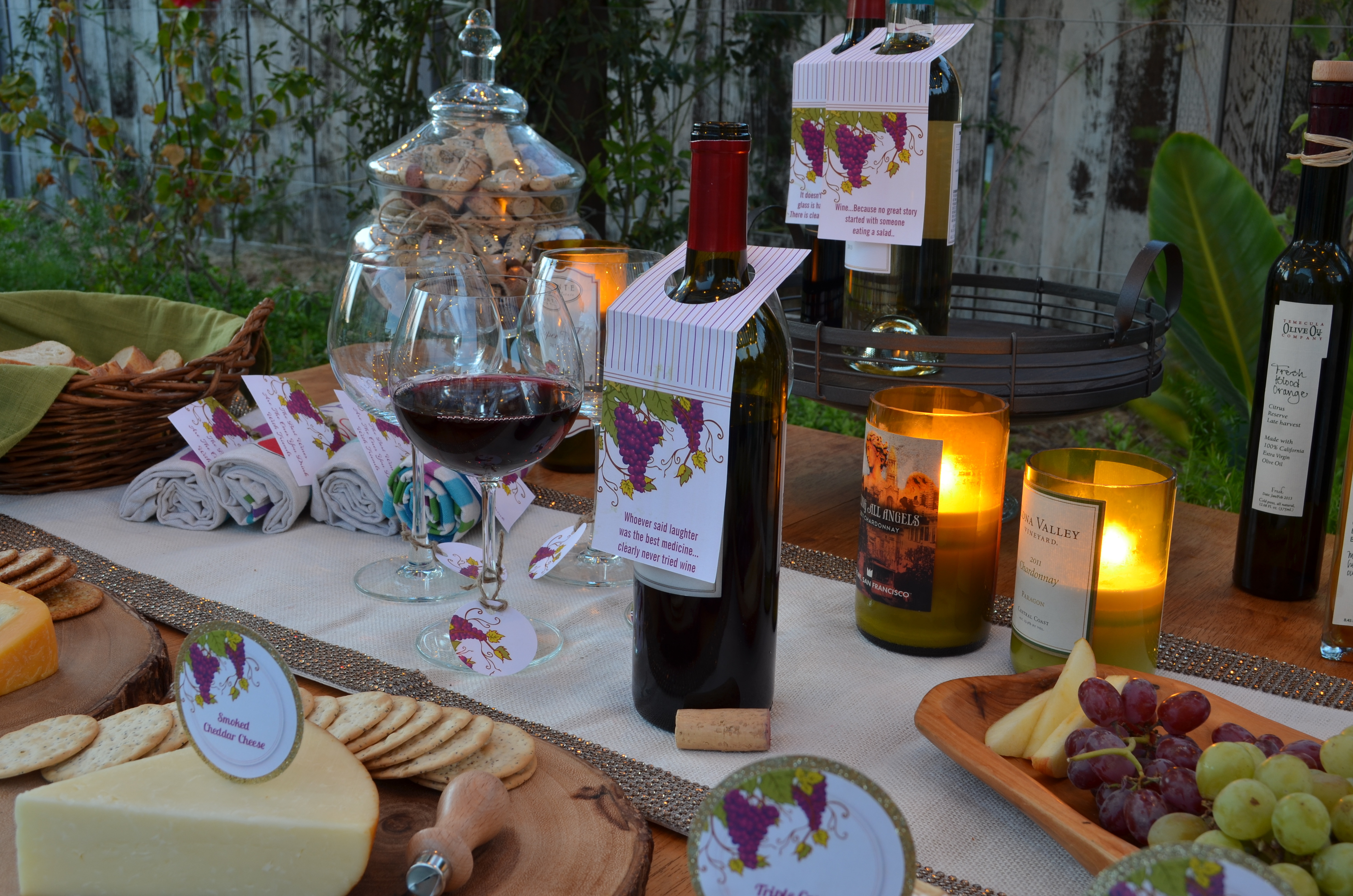 Wine Amp Cheese Party Candles And Favors