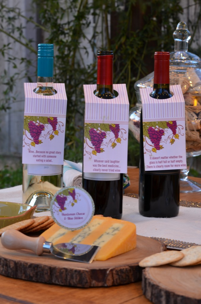 wine and cheese party wine tags