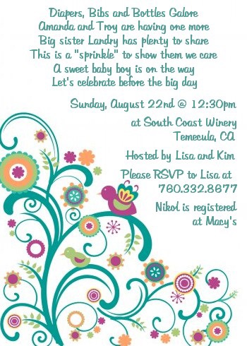 Baby Sprinkle baby shower invitation