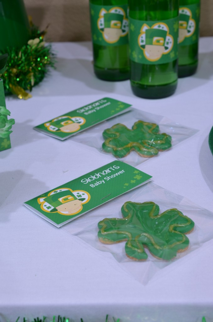 st patricks baby shower bag toppers with cookies