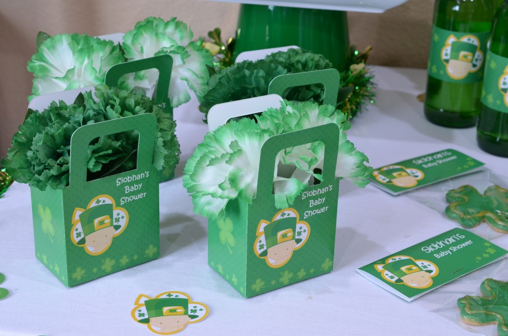 st patricks baby shower favor boxes