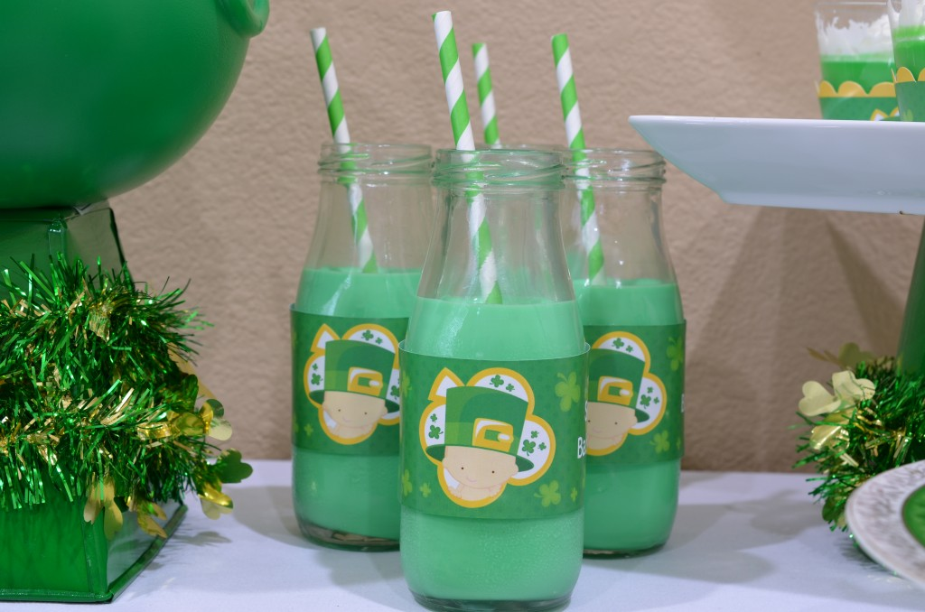 st patricks baby shower irish milk shake