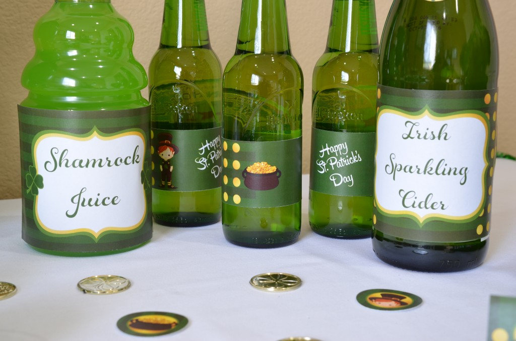 st patricks day printable beverage wraps