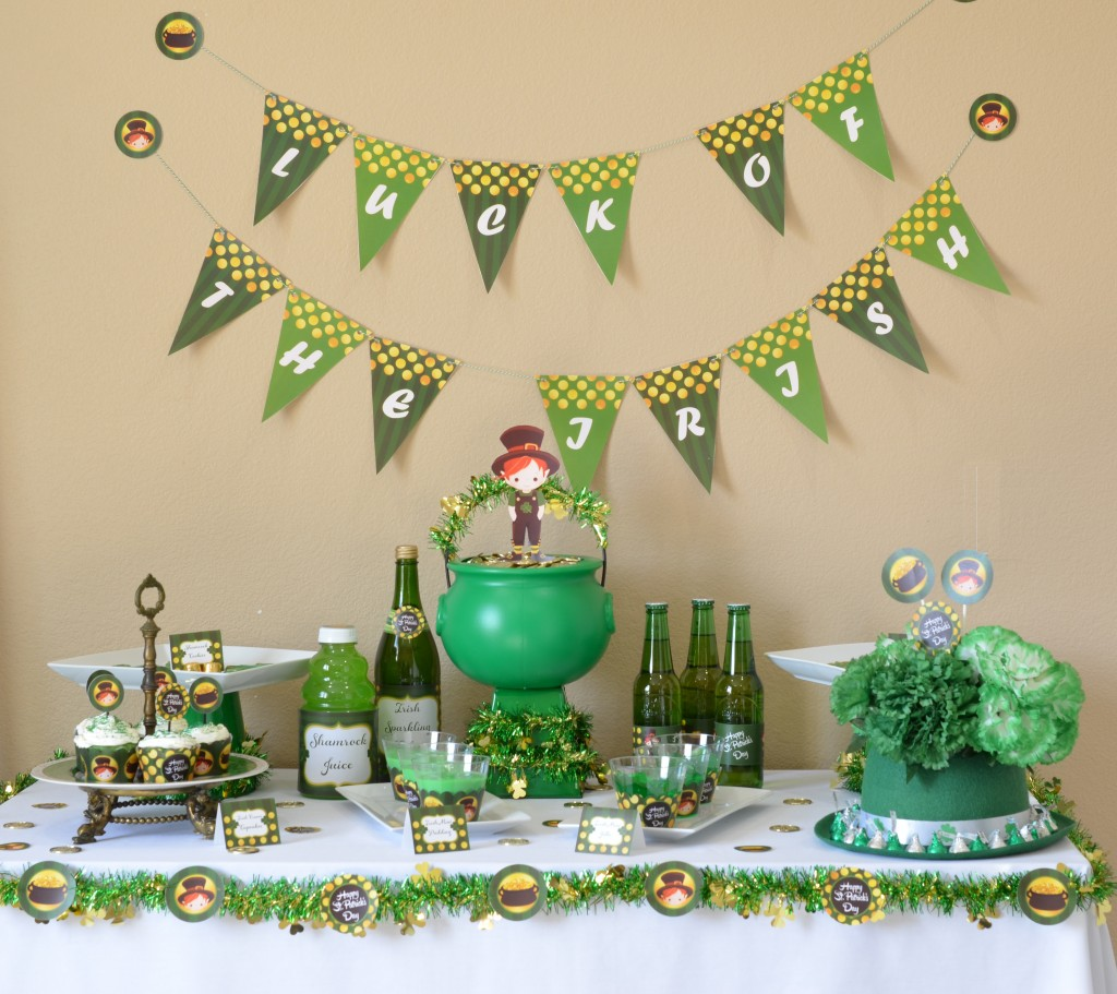 st patricks day printable full table