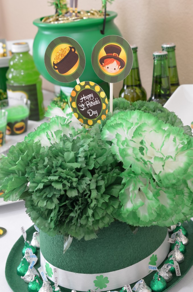 st patricks day printable irish hat bouquet