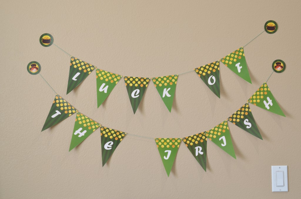 st patricks day printable pennant