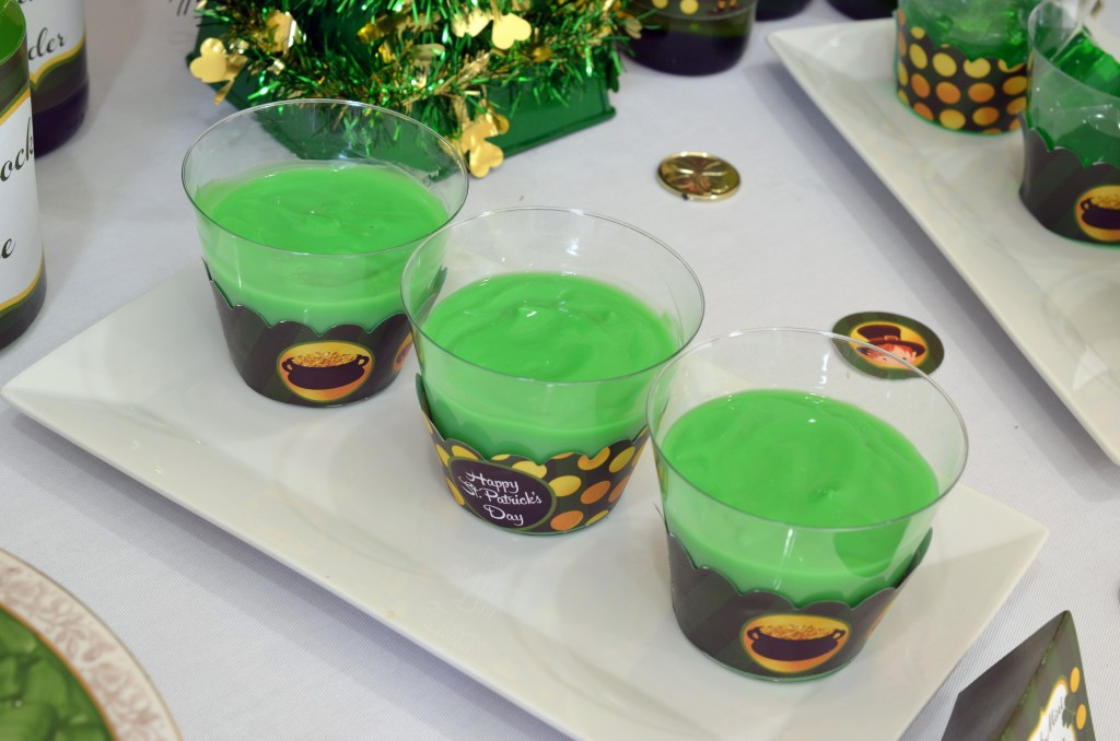 st patricks day printable pudding shot