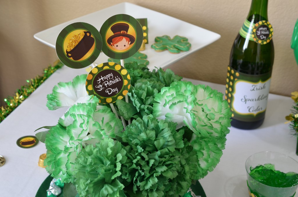 st patricks day printable table confetti