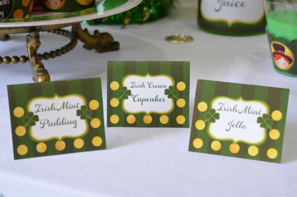 st patricks day printable table tents