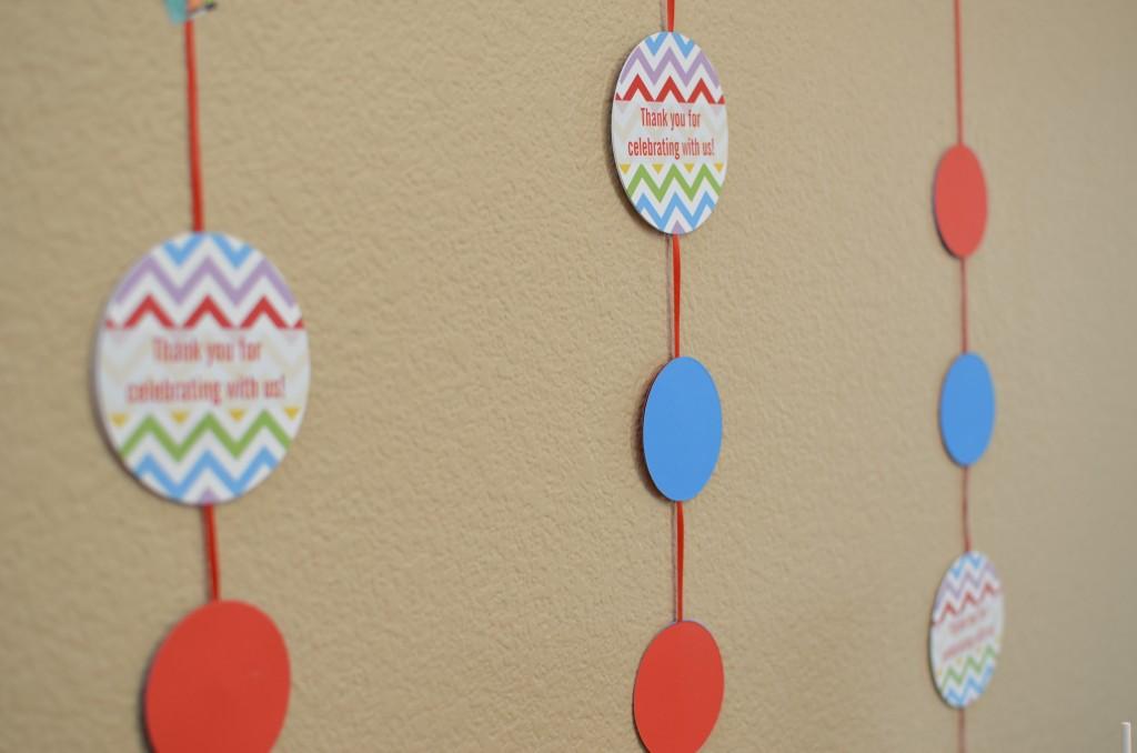 table confetti used a wall decor
