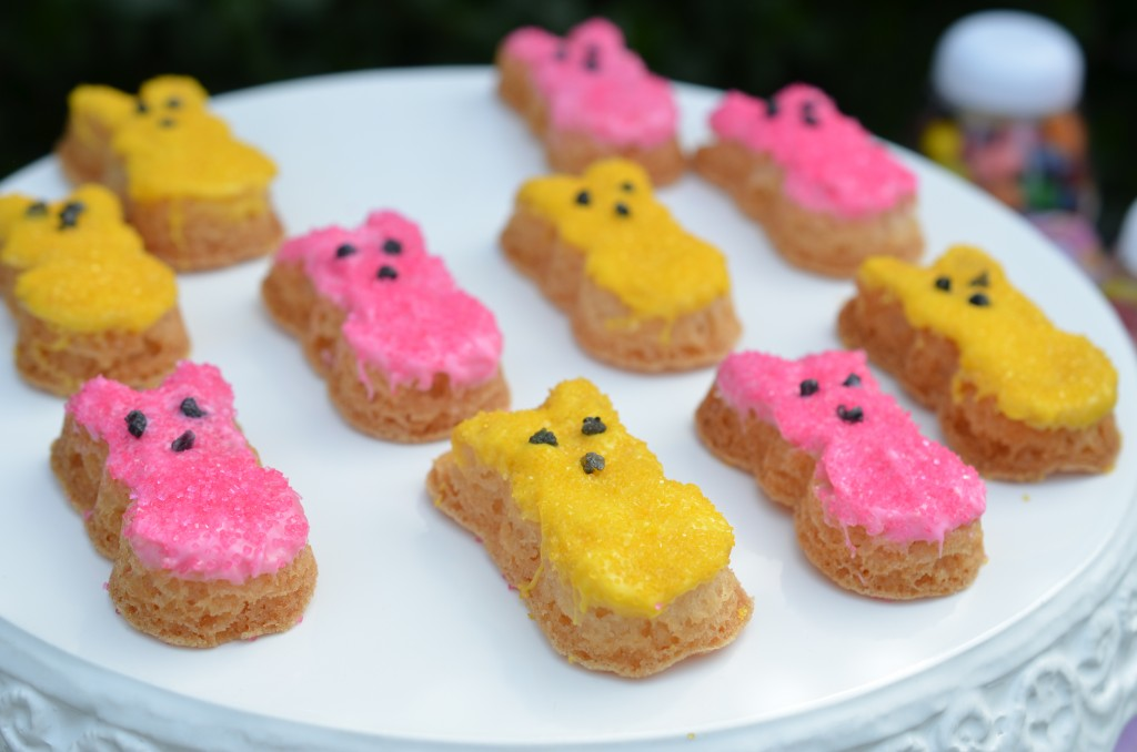 Easter party peeps sugar cookies