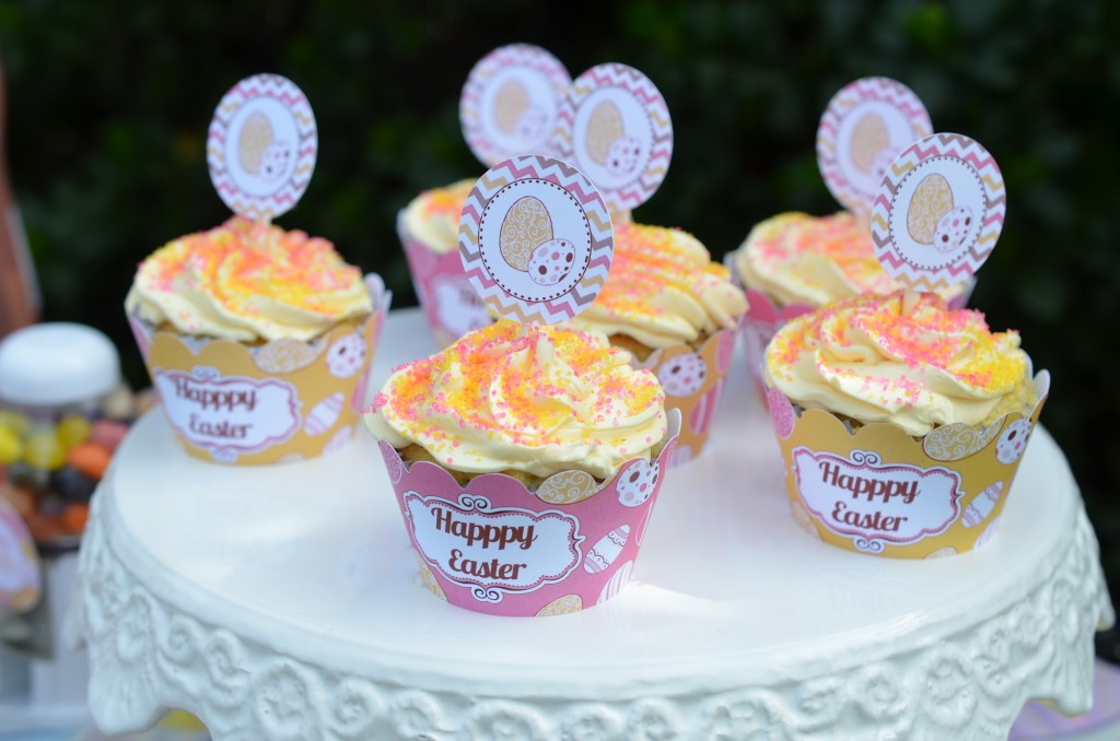 easter party cupcake wrappers
