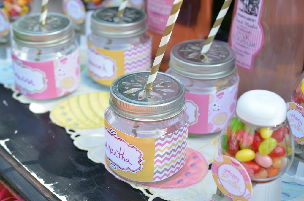 easter party mason jar personalized wraps