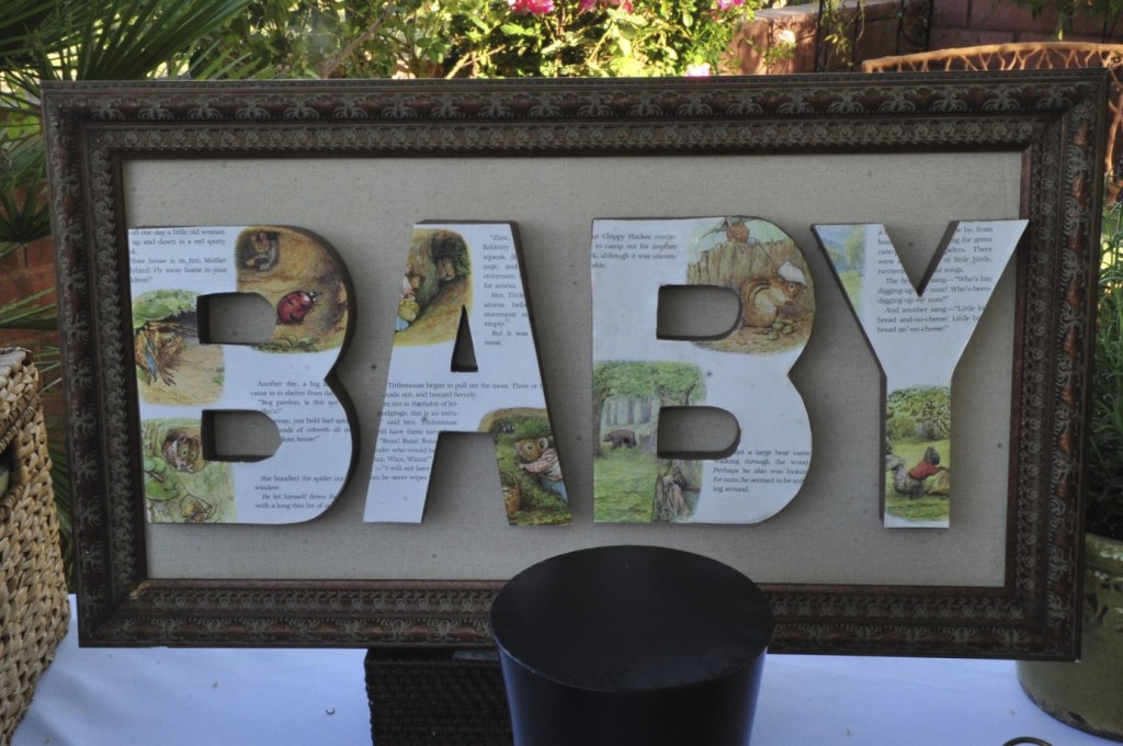 Build A Library Party Baby Decoupage on A Frame