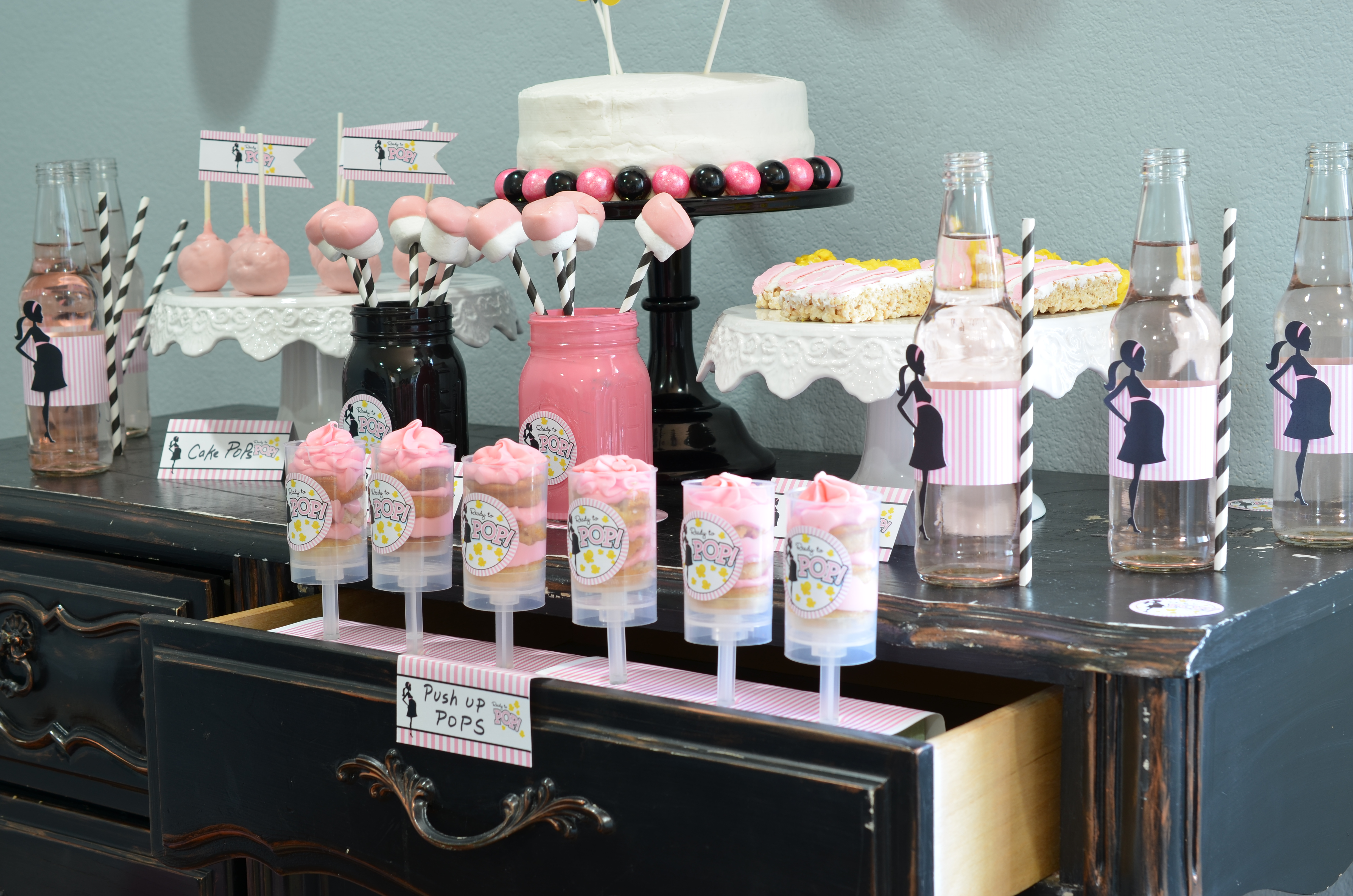 Ready To Pop Pink Baby Shower Pop Desserts Candles And