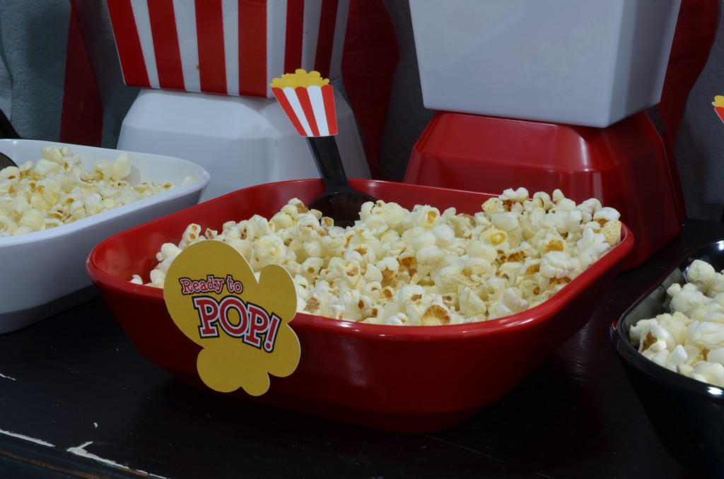 Ready To Pop Baby Shower Red - custom popcorn scoops