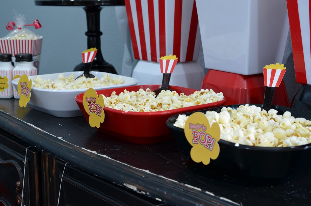 Ready To Pop Baby Shower Red - popcorn display