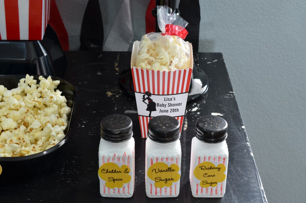 Ready To Pop Baby Shower Red - shakers and popcorn box