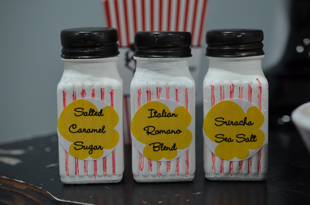 Ready To Pop Baby Shower Red - upclose seasoning shakers with custom sticker