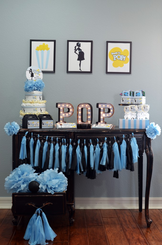 Ready To Pop Blue Favor Table
