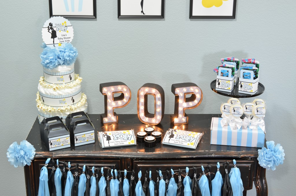 Ready To Pop Blue Favor table display