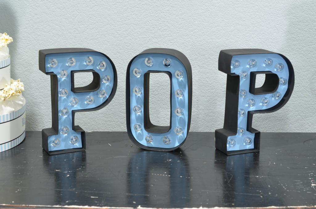 Ready To Pop Blue POP letters custom painted