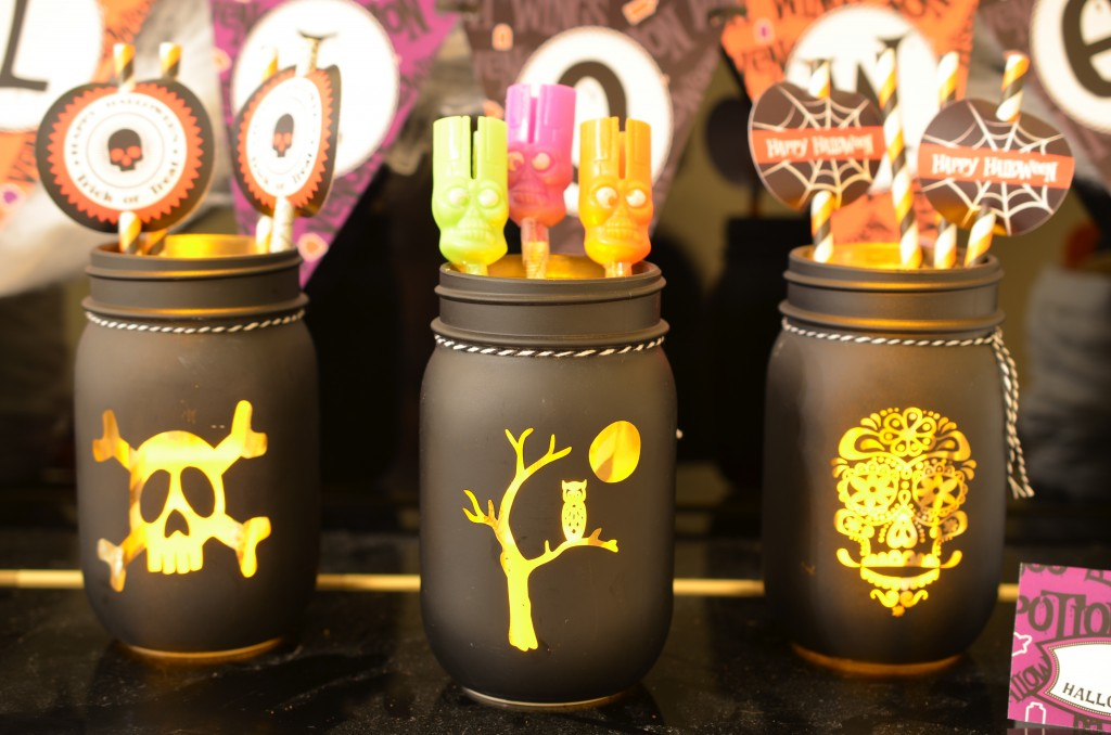 Halloween Party Target mason jars