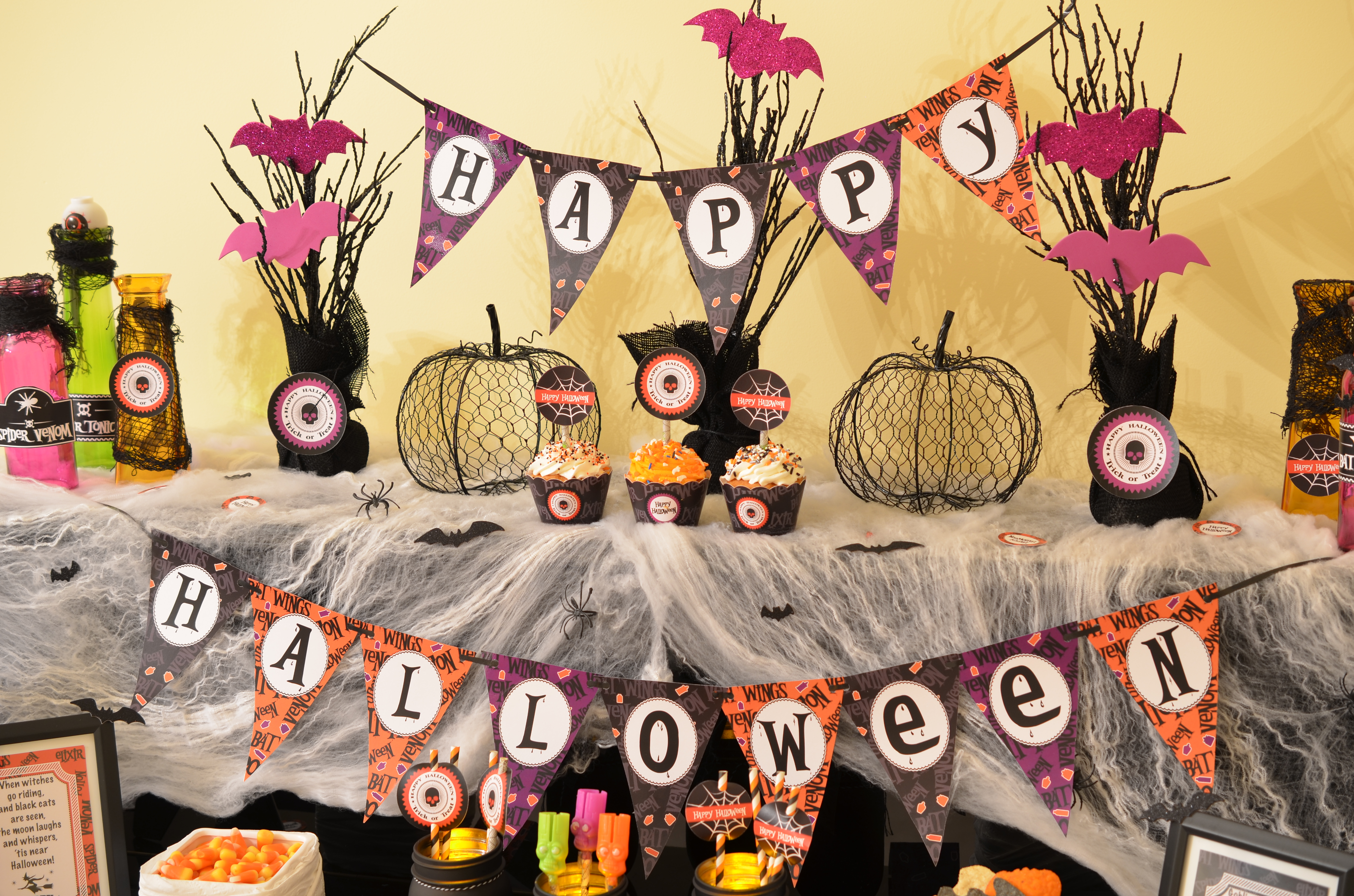 Halloween Party Printable Pennant