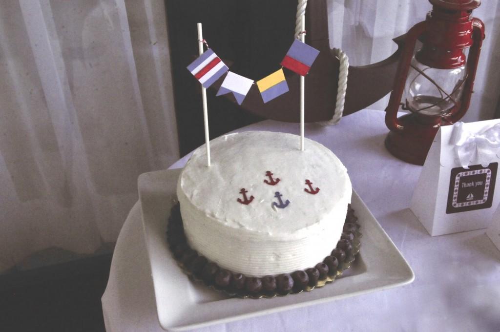 Nautical Birthday Party Custom Cake Pennant