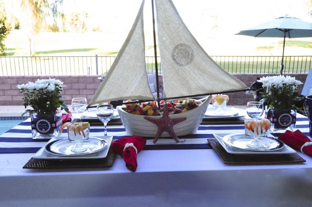 Nautical Birthday Party custom sailboat with iron on