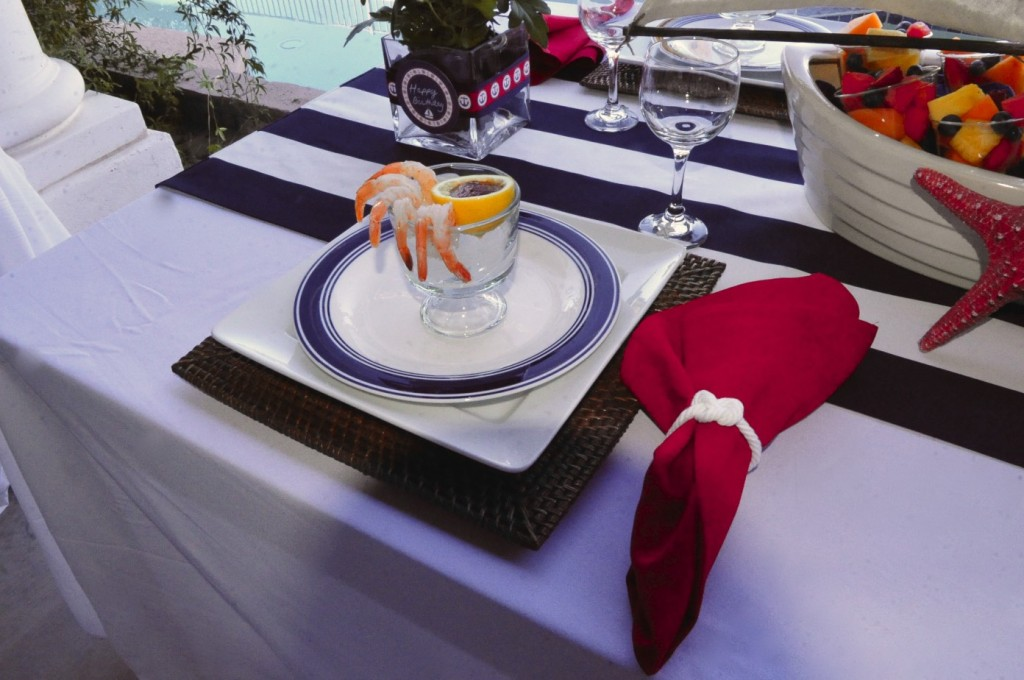 Nautical Birthday Party place setting