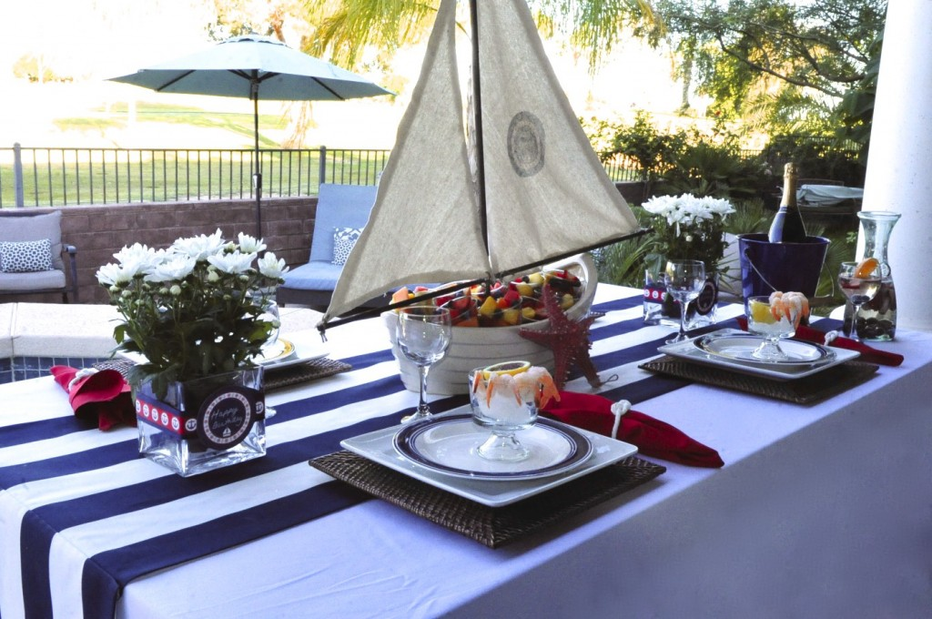 Nautical Birthday Party table decor