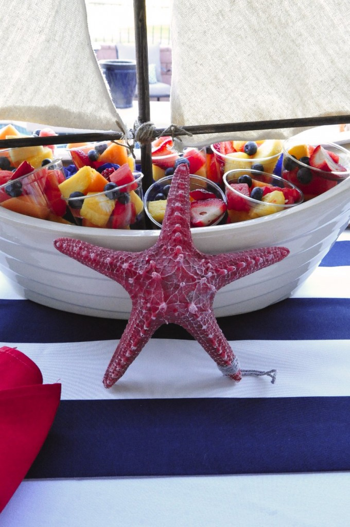Nautical Birthday Party upclose fruit cups