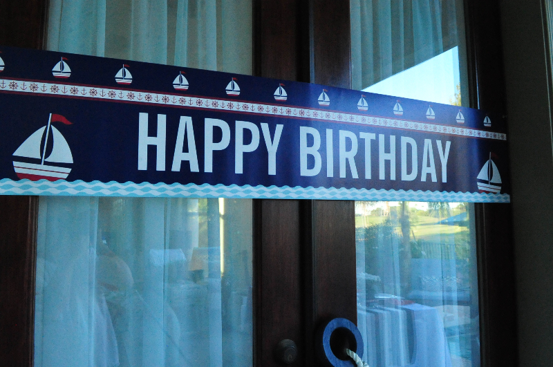 Nautical Birthday Party Personalized Banner