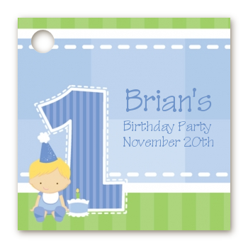 Birthday Party Favor Tags 1st Birthday Boy Favor Tags