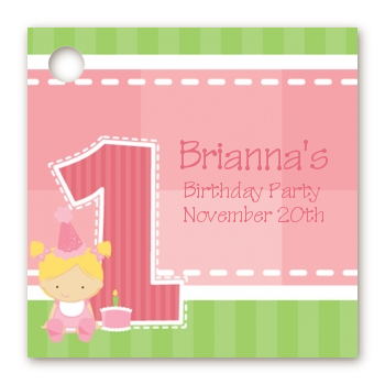 Birthday Party Favor Tags 1st Birthday Girl Favor Tags